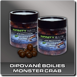 Jdi na Dipované boilies Monster Crab Infinity Baits