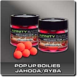Jdi na Fluoro Pop-Up Jahoda/ryba Infinity Baits