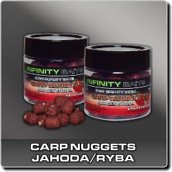 Jdi na Carp Nuggets dipované Jahoda/ryba Infinity Baits