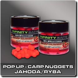 Jdi na Carp Nuggets pop-up Jahoda/ryba Infinity Baits