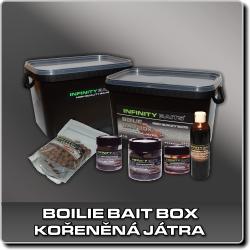 Jdi na Boilie bait box Kořeněná játra Infinity Baits