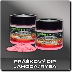 Jdi na Práškový dip Jahoda/ryba Infinity Baits