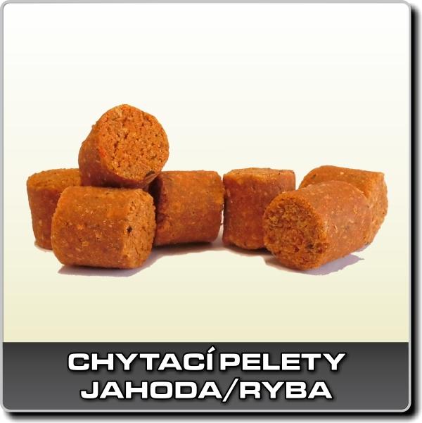 Chytací pelety - Jahoda/ryba 1 kg - 14 mm