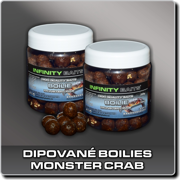 Dipované boilies - Monster crab