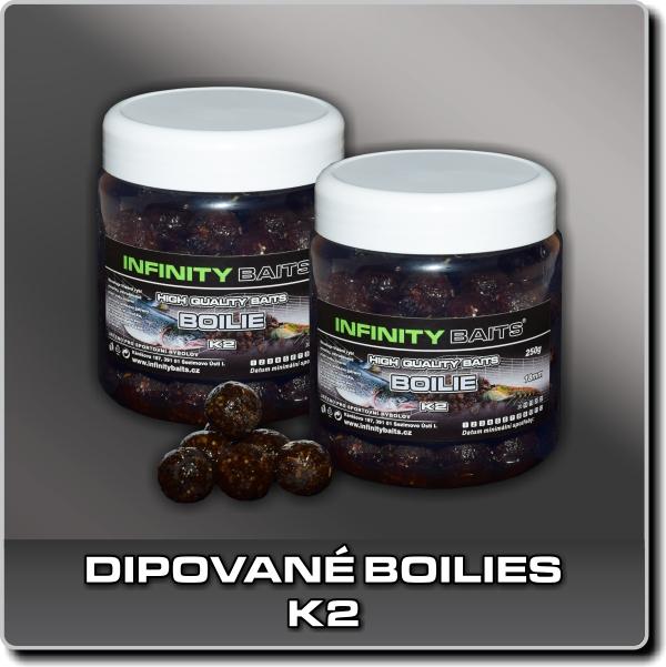 Dipované boilies - K2