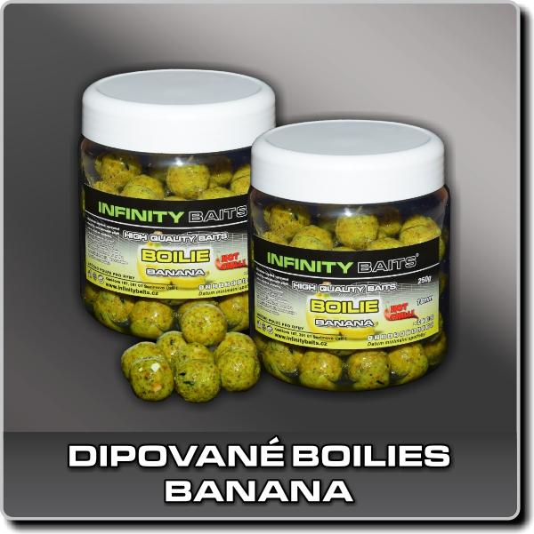 Dipované boilies - Banana