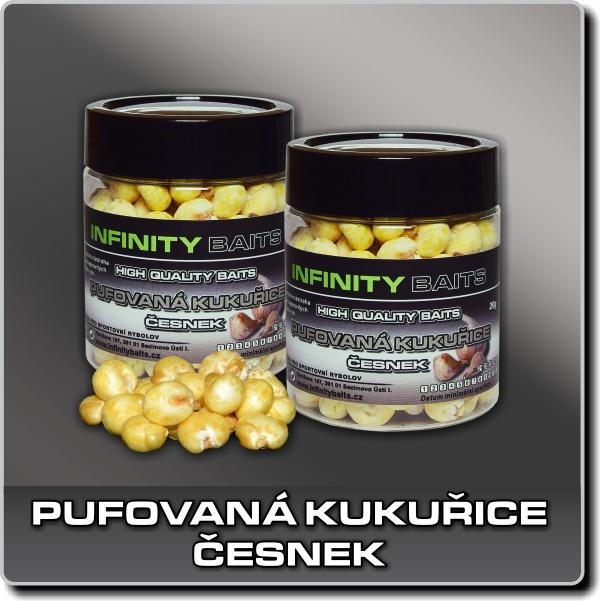 Pufovaná kukuřice - Česnek