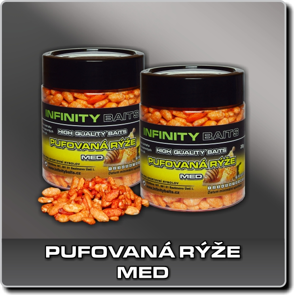 Pufovaná rýže - Med