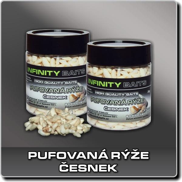 Pufovaná rýže - Česnek