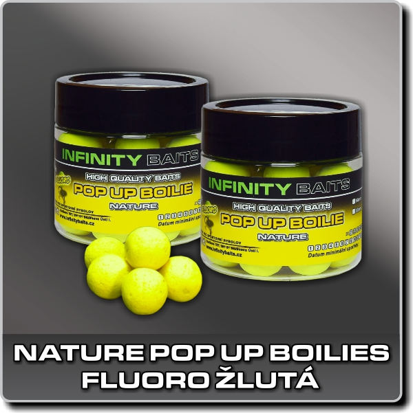 Nature Pop Up boilies - fluoro žlutá - 14 mm
