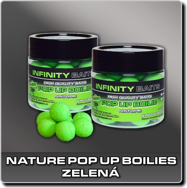 NATURE POP UP BOILIES - FLUORO ZELENÁ - 14mm