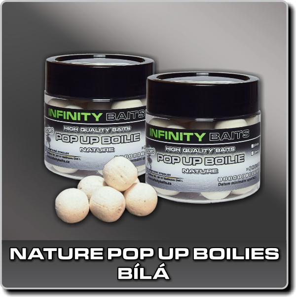 Nature Pop Up boilies - fluoro bílá - 14 mm