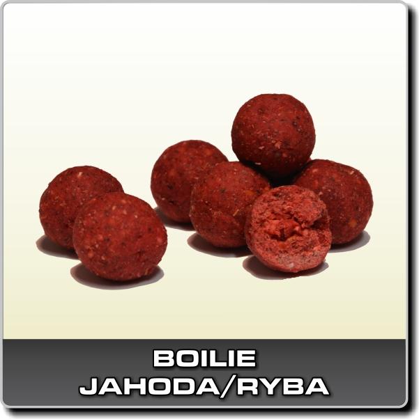 Boilies Jahoda/ryba - 1 kg 18 mm
